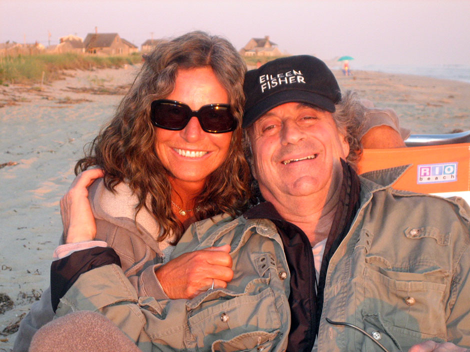 Phillip and Gail Stone relaxing on Nantucket